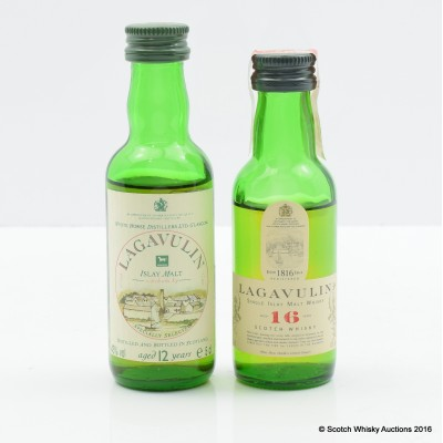 Lagavulin 16 Year Old White Horse Minis 2 x 5cl