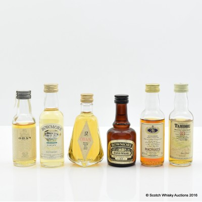 Assorted Minis 6 x 5cl Including Oban 14 Year Old 5cl