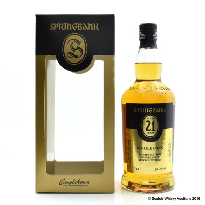 Springbank 21 Year Old Single Cask 2016 Release
