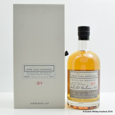 William Grant's Ghosted Reserve 21 Year Old Release #2