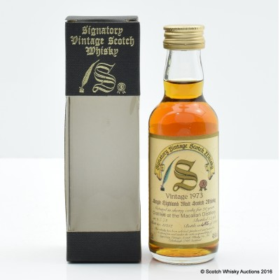 Macallan 1973 20 Year Old Signatory Miniature 5cl