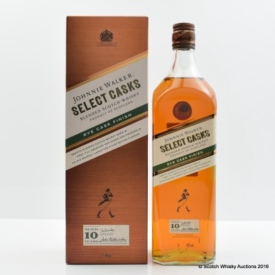 Johnnie Walker 10 Year Old Rye Cask Finish 1L