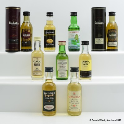 Assorted Minis 9 x 5cl Including Lowland 1983 11 Year Old 5cl