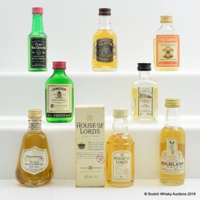 Assorted Minis 8 x 5cl Including Jameson 5cl