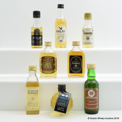 Assorted Minis 8 x 5cl Including Glenforres 12 Year Old Mini 5cl