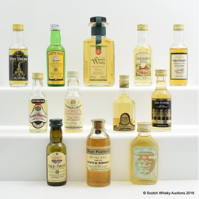 Assorted Minis 11 x 5cl Including Roger Pinetree's Silver Seal 4cl & Special Reserve Mini Decanter 20cl