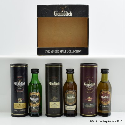 Glenfiddich Miniature Collection 3 X 5cl