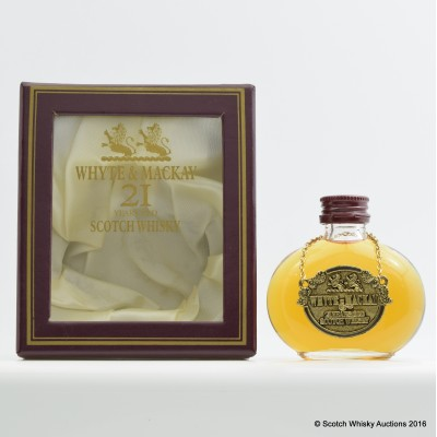 Whyte & Mackay 21 Year Old Mini Decanter 5cl