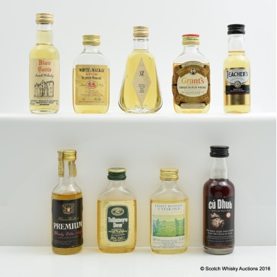 Assorted Minis 9 x 5cl Including Cu Dhub 5cl
