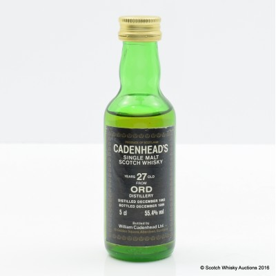 Ord 1962 27 Year Old Cadenhead's Miniature 5cl
