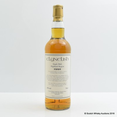 Clynelish 1992 10 Year Old Tanners Wines