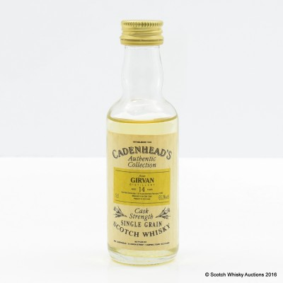 Girvan 1979 14 Year Old Cadenhead's Mini 5cl