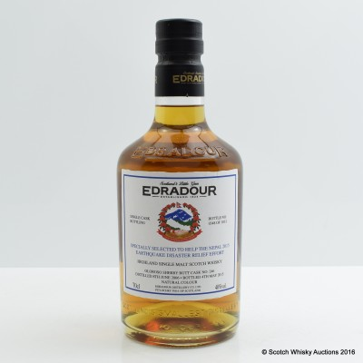 Edradour 2006 Single Cask #246 for Nepal Disaster Relief