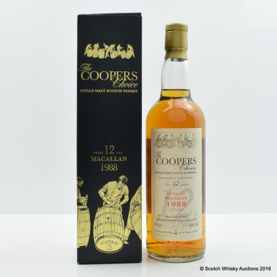 Macallan 1988 12 Year Old The Coopers Choice