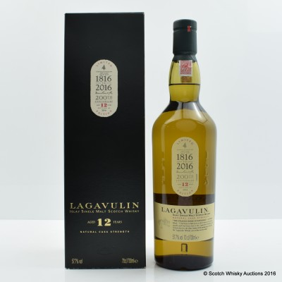 Lagavulin 12 Year Old 200th Anniversary 2016 Release