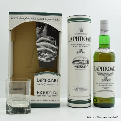 Laphroaig 10 Year Old with Glass set