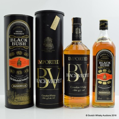 Black Velvet 1L & Bushmills Black Bush 1L