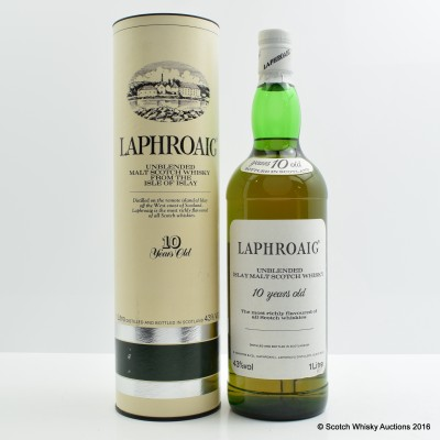 Laphroaig 10 Year Old Pre Royal Warrant 1L
