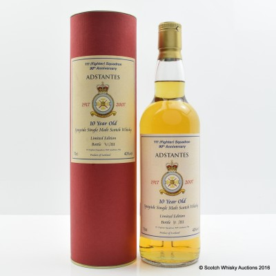 Speyside Single Malt 10 Year Old 111 Fighter Squadron 90th Anniversary