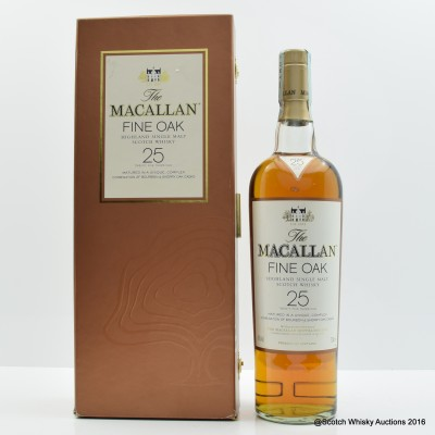 Macallan 25 Year Old Fine Oak