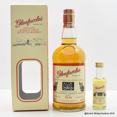 Glenfarclas Commemorative Bottling For The 700th Anniversary Of The Battle Of Bannockburn & Matching Mini 5cl