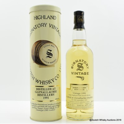 Glenallachie 1991 11 Year Old Signatory