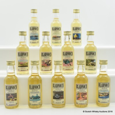 Bladnoch Calendar Series Miniatures 12 x 5cl