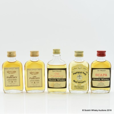Assorted Miniatures 5 x 5cl Including Highland Park 8 Year Old
