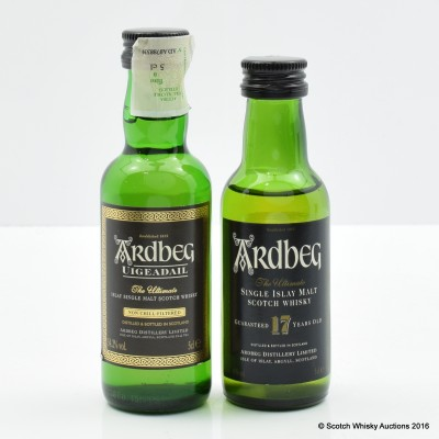 Ardbeg Uigeadail & Ardbeg 17 Year Old Minis 2 x 5cl