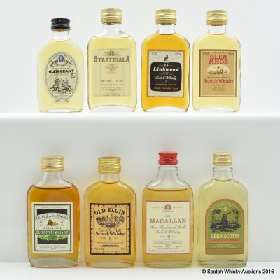 Assorted Miniatures 8 x 5cl Including Macallan 10 Year Old