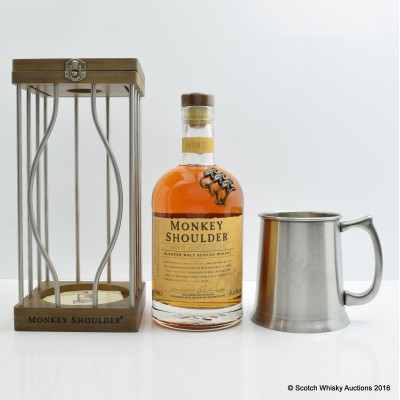 Monkey Shoulder In Cage and Branded Tankard