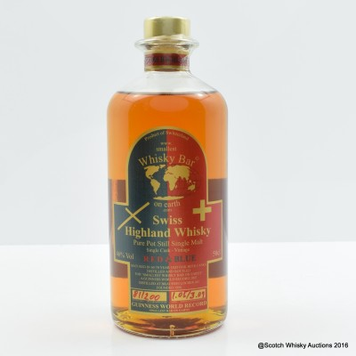 Swiss Whisky - Smallest Bar On Earth Red & Blue 50cl