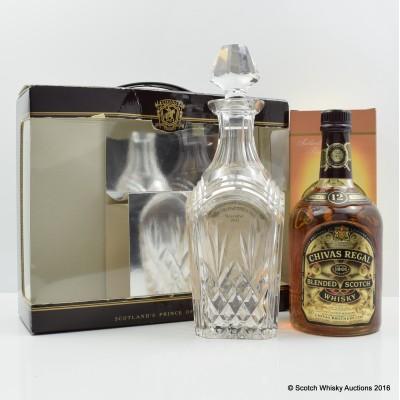 Chivas Regal 12 year Old Quality Standard  Commemorative Bottling 75cl & Crystal Decanter