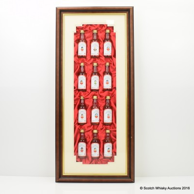 Flower Of Scotland Manchester United Champions Of Europe 1968 Minis 12 X 5 cl In Presentation Frame