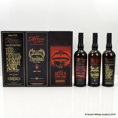 Arran Devil's Punch Bowl Collection 3 x 70cl