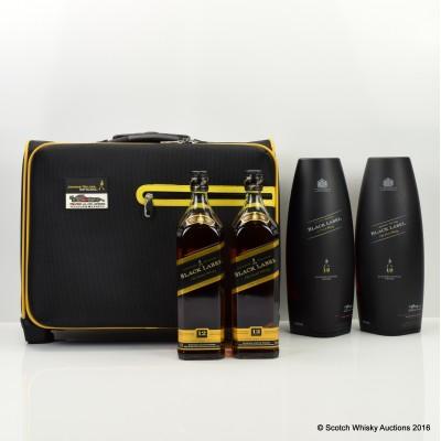 Johnnie Walker 12 Year Old Black Label 2 x 70cl in Travel Bag