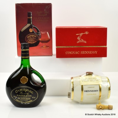 Dupeyron Napoleon Armagnac 70cl & Hennessy Napoleon Cognac 68cl