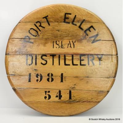 Port Ellen 1981 refurbished cask end