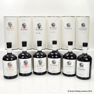 Bunnahabhain Feis Ile Collection 6 x 70cl - 2010, 2011, 2012, 2013, 2014, 2015