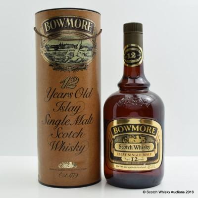 Bowmore 12 Year Old Dumpy Bottle 1L