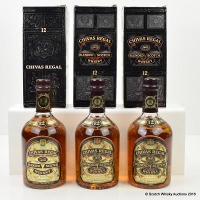 Chivas Regal 12 year Old Commemorative Bottling 70cl & 2 x 75cl