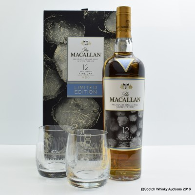 Macallan 12 Year Old Fine Oak (2 x glasses set)