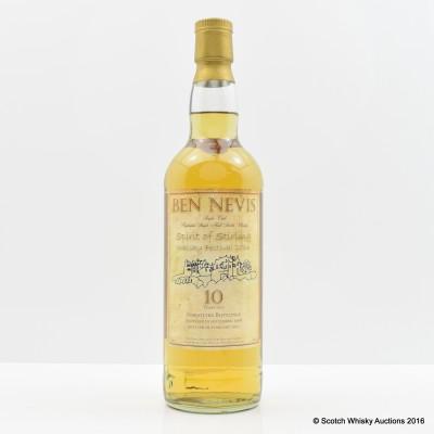 Ben Nevis 1996 10 Year Old Spirit Of Stirling Whisky Festival 2014