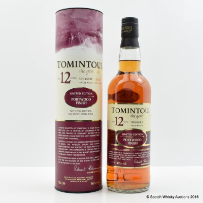 Tomintoul 12 Year Old Port Wood Finish