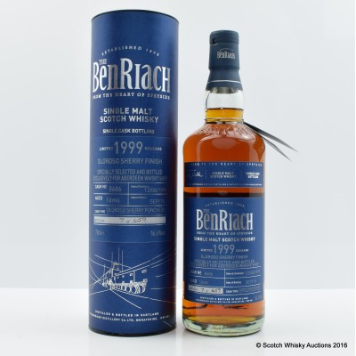 BenRiach 1999 16 Year Old Single Cask for Aberdeen Whisky Shop