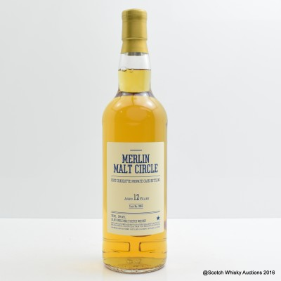 Port Charlotte 2004 12 Year Old Merlin Malt Circle Private Bottling