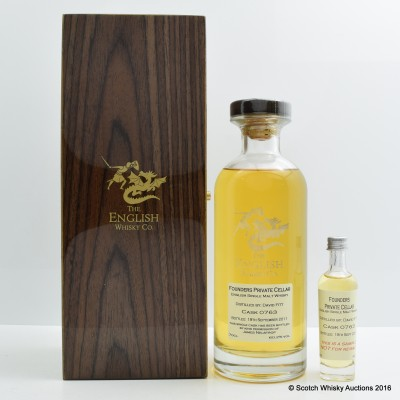 English Whisky Co Founders Private Cellar Cask #763