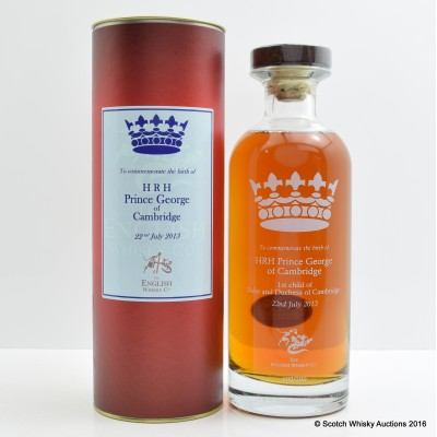 English Whisky Co Birth of Prince George