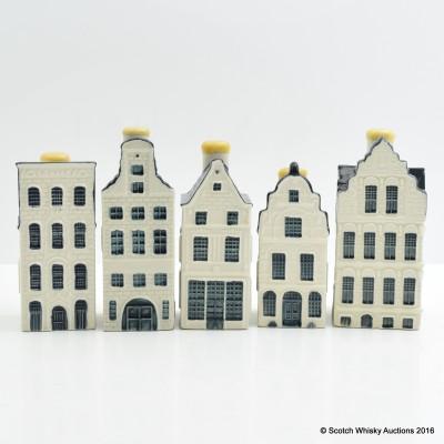 Bols Delft Mini House Decanters x 5
