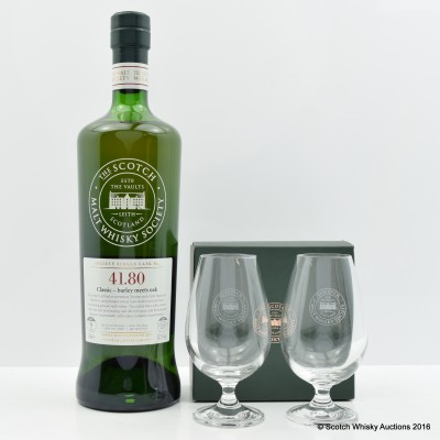 SMWS 41.80 Dailuaine 2006 9 Year Old & 2 SMWS Glasses